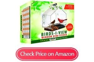 nature anywhere window bird house feeders